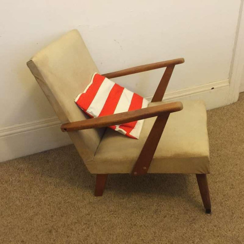 Vintage Retro Arm Chair Lounge Mid Century Atomic Style 50s Statement Piece