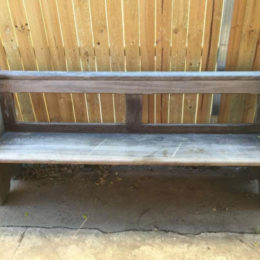 Vintage Rustic Industrial Wooden Timber Bench Pew Garden Deck